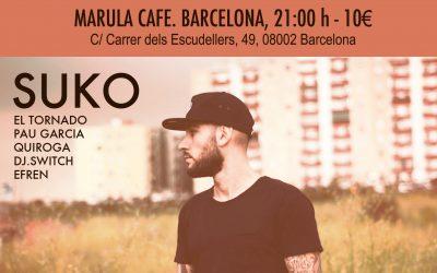 SUKO + FAST BOO en «Marula Cafe» Barcelona